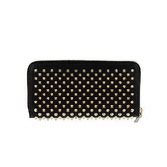 Christian Louboutin 1185059cm6s Women's Black Leather Wallet