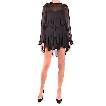 Saint Laurent Ezbc022013 Women's Black Silk Dress
