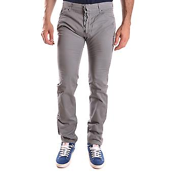 Daniele Alessandrini Ezbc107159 Men's Grey Cotton Pants