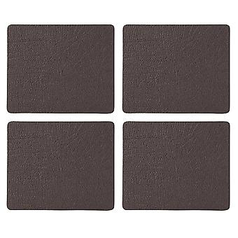 English Tableware Co. Bonded Leather Coasters, Chestnut
