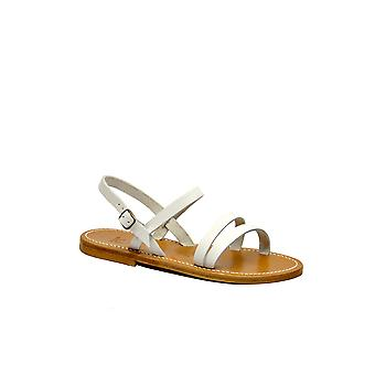 K.jacques Isispulblanc Women's White Leather Sandals