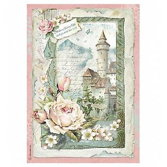 Stamperia Rice Paper A4 Castle Fantasy