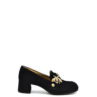 Car Shoe Ezbc029028 Women's Black Suede Pumps