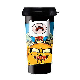 Travel Mug - Adventure Time - Card Wars Finn & Jake Travel Mug Nowy ptmg-at-crdwr
