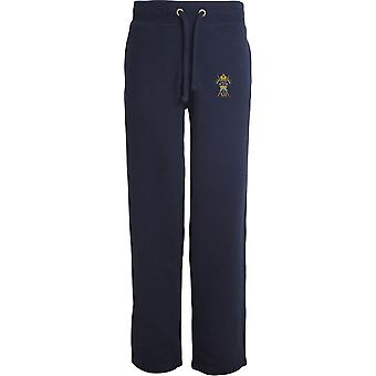 12. Royal Lancers-licenseret British Army broderet åbne hem sweatpants/jogging bunde