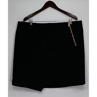 Styled von Joe Zee Plus Rock Umschlag mit Reißverschluss Detail schwarz A262727