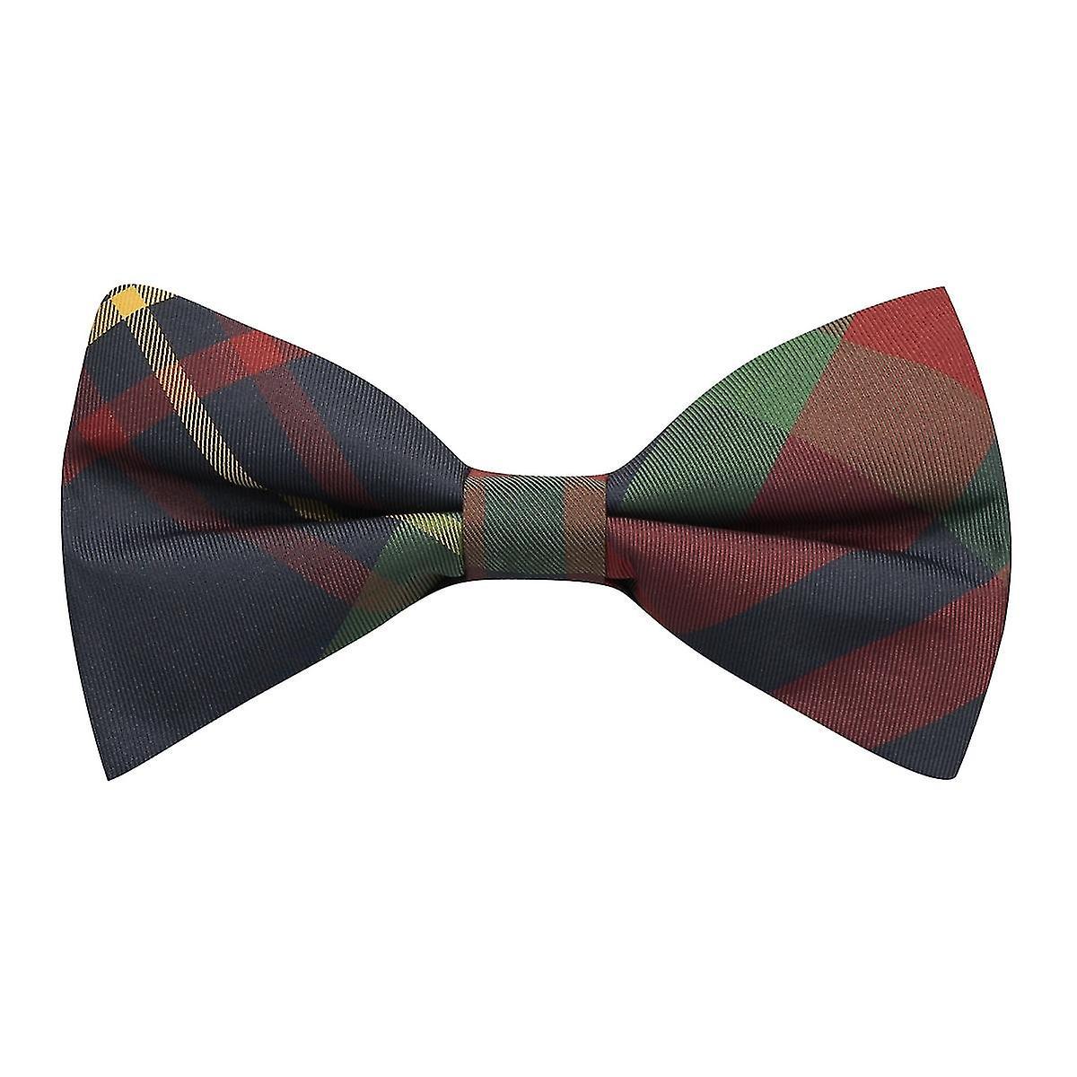 Contemporary Red / Blue Tartan Plaid Check Bow Tie