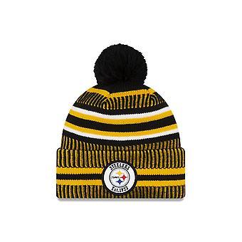 New era pe teren sport Knit hm Beanie ~ Pittsburgh Steelers