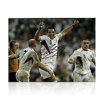 Martin Johnson Signed England 2003 World Cup Rugby Photo: The Final Whistle