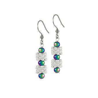 Eternal Collection Alchemy Rainbow Hematite Drop Pierced Earrings