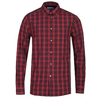Calvin Klein Windowpane syvä punainen Check-paita