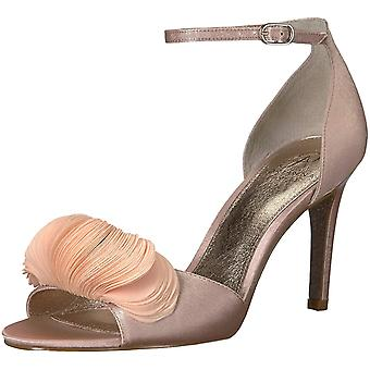Adrianna Papell Women's Gracie Heeled Sandal, Blush Satin, 7.5 M US