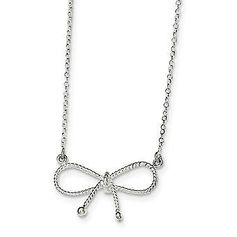 925 plata esterlina pulido arco collar de 18 pulgadas regalos de joyería para las mujeres