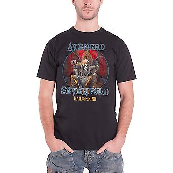 Avenged Sevenfold Mens T Shirt Black Hail to the King Deadly Rule logo Official