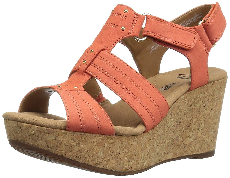 Clarks Kobiety Annadel Fabric Open Toe Casual Platform Sandały
