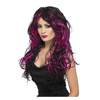 Damska Gothic Panna Młoda Wig Fancy Dress akcesorium