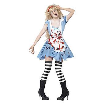 Naisten zombie Malice Halloween Fancy mekko puku