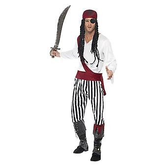 Mens piraat Man Fancy Dress kostuum