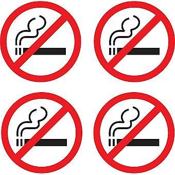 Naklejka Naklejka Zabronione Nie palić Drzwi sklepu biurowego Zakaz palenia