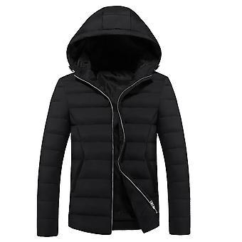 Allthemen menn ' s solid hette varm vinter polstret jakke