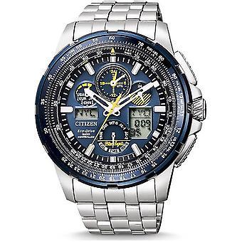 Citizen Herrenuhr Promaster Blue Angel Chronograph JY8058-50L