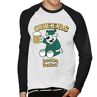 Beetle Bailey Otto Cheers Men's Baseball Long Sleeved T-Shirt