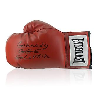 Gennady Golovkin Signed Red Boxing Glove