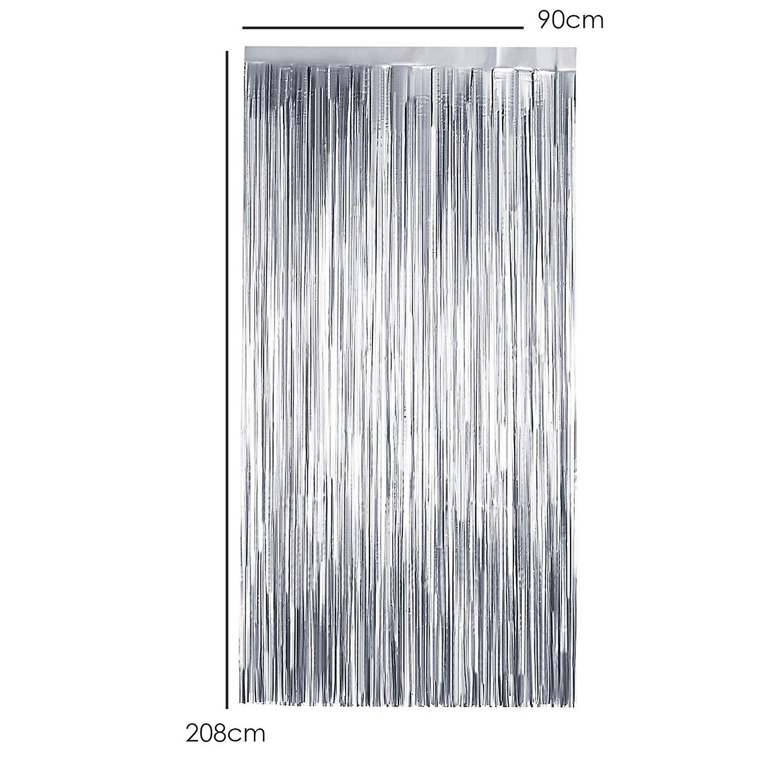TRIXES Silver Foil Curtain – Party Backdrop for Wedding Hen Party Birthday