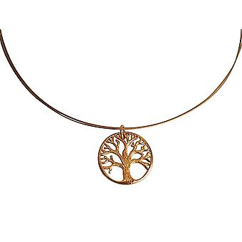 GEMSHINE necklace YOGA LIFE TREE 925 silver, gold plated or rose