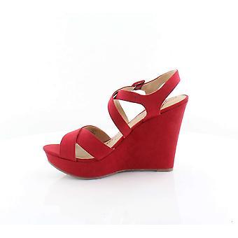 American Rag Womens Rachey Suede Peep Toe Casual Platform Sandals