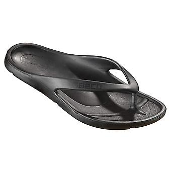 BECO V-Strap Black Pool Slippers for Women-37 (EUR)