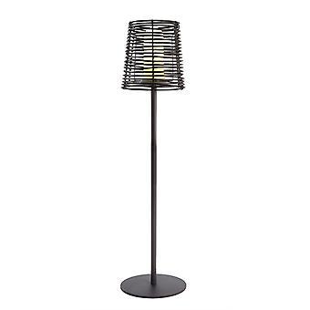 Lámpara de pie Velorum negro H 1450mm E27 18W IP44