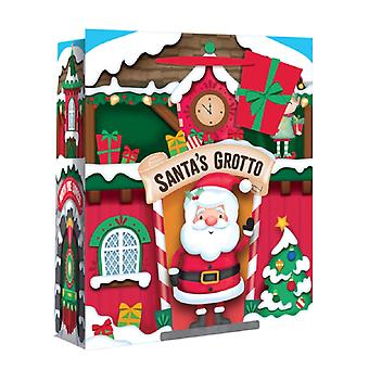 Eurowrap Wide Gusset Christmas Gift Bags with Santas Grotto Design (Pack of 12)