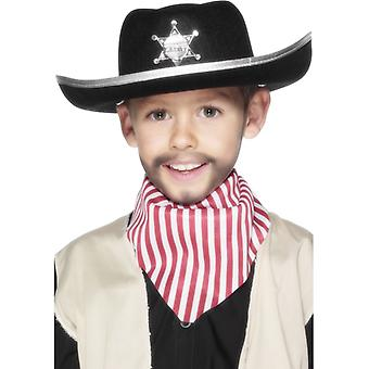 Cowboy hat child cowboy Sheriff hat for the costume black