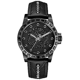Harley Davidson Womens Only Time | Black Dial | Black Leather Strap 78L126 Watch