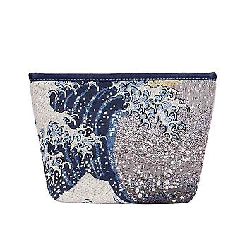 Hokusai-große Welle aus kanagawa Make-up-Tasche von signare tapestry/Make-up-art-jp-Welle