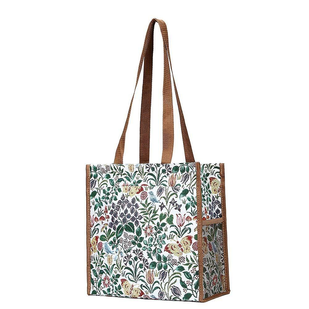 Voysey - spring flowers reusable shopper bag by signare tapestry / shop-spfl