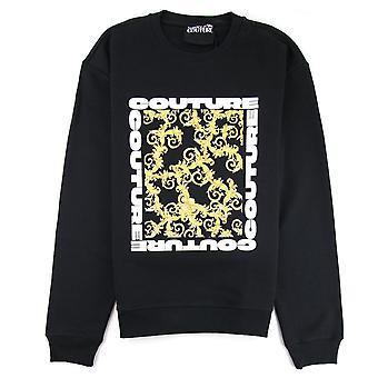 Versace jeans Couture Square logo tröja svart