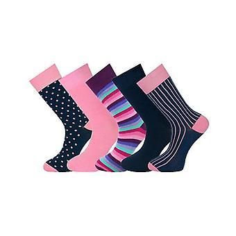 5 Pairs Mens Ankle Socks Multi Selection 023
