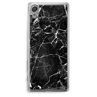 Sony Xperia XA Transparent Case - Black Marble 2