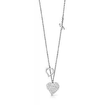 Halsband och hänge hjärta UPPVÄRMNINGEN UBN78066 - halsband och pendel stål cha antar inte pampille c? din kristaller Swarovski kvinna
