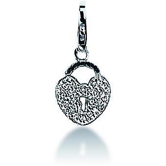 Charm stone Lawson JC99A049 - Charm silver heart woman pendant