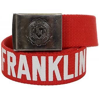 Franklin & Marshall One Size Patrol Red Webbing Belt