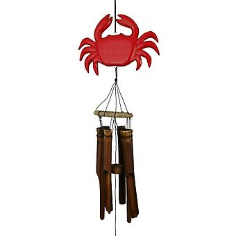 Red Crab Bamboo Wind Chime