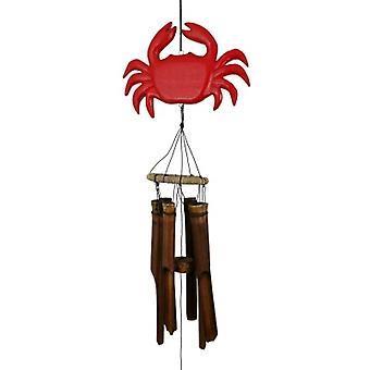 Carillon de vent de bambou de crabe rouge