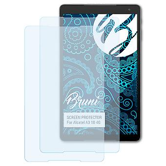Bruni 2x Screen Protector compatible with Alcatel A3 10 4G Protective Film