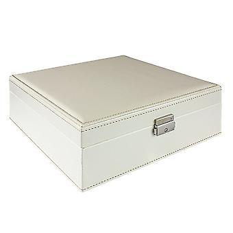 Schmuckbox, weiß - 26 x 26 cm