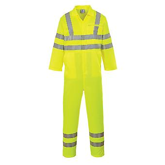 Portwest hi-vis poly-cotton coverall e042