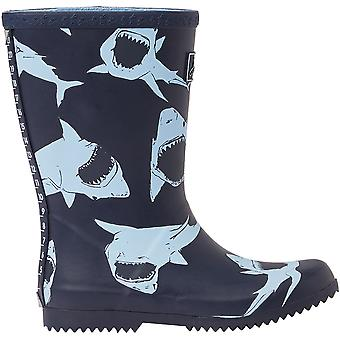 Joules Boys Roll Up Welly Reflective Wellington Bottes