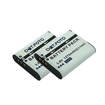 2 x Dot.Foto DB-110 PREMIUM Ersatz wiederaufladbare Kamera Batterie für Ricoh - 3.6v / 1270mAh - 2 Jahre Garantie [Siehe Beschreibung für Kompatibilität]
